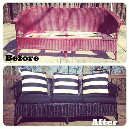 How To Paint Plastic Rattan Furniture  Home Painting