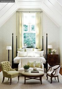 bed in front of window decorating ideas