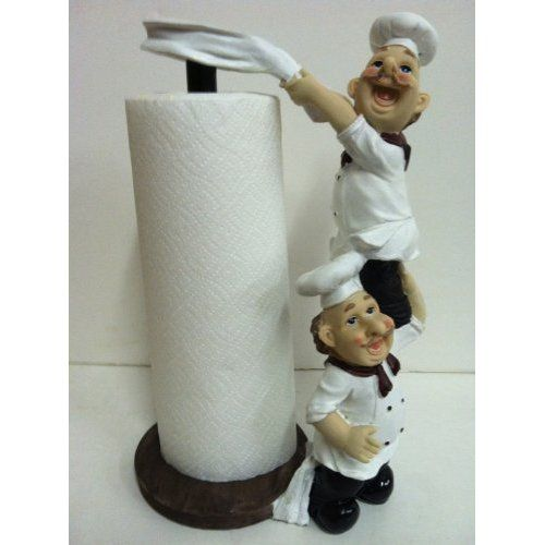shop world kitchen coupons nook seating amazon.com: bistro fat chef paper towel holder: ...