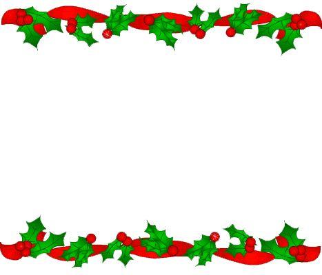christmas borders word