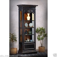 French Maison Curio Display Cabinet Bookcase Black ...