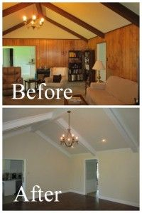 remove old wood paneling....I have a phobia of wood ...