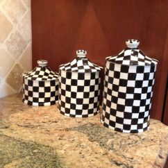 Kitchen Canisters Pottery How To Refurbish Cabinets Ceramic Clay, And Black White On Pinterest