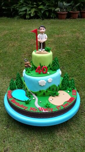 1000 Images About Men S Cakes On Pinterest Golf Themed