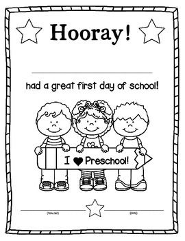 25+ best ideas about Preschool first day on Pinterest