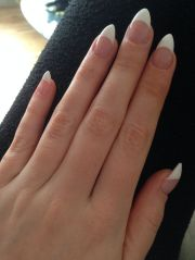 french stiletto nails makeup
