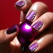 easy - purple polish with dots