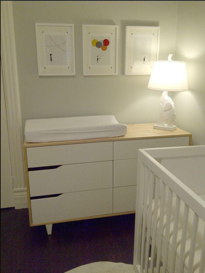 ikea dresser changing table  IKEA Mandal Dresserchanging