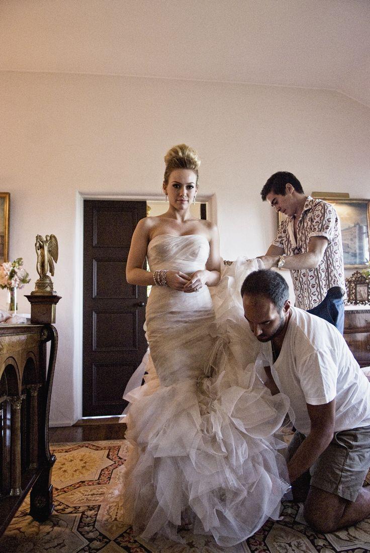 Hilary Duff Gemma Vera Wang Mermaid Style Wedding Gown  For the Wedding  Pinterest  Home