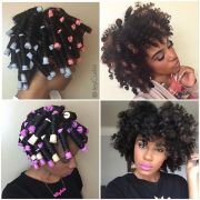 perm rod set dry natural hair