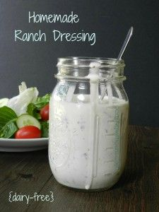 Homemade Ranch Dressing:Ingredients