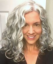 long gray hair strands of silver