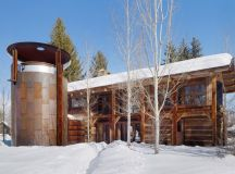 Beautiful rustic compound with a wine silo in Wyoming ...