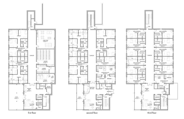 boarding school floor plan layouts  Boarding School