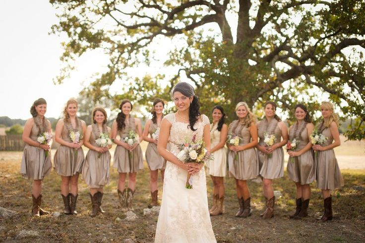 Vintage Country Style Wedding  Country style bridesmaid dresses Rustic country weddings and