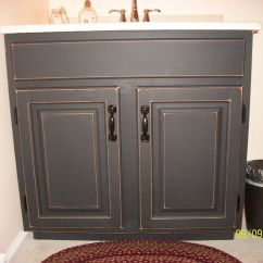 Kitchen Refinishing Ideas Bar Stool Finished Bathroom Vanity Cabinet With Black Chalkboard ...