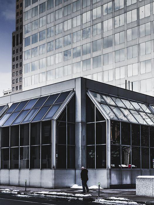 Modern Architecture St Louis Street Photography Man