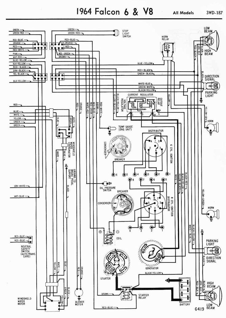 Ignition Switch Wiring Diagram 66 Fairlane, Ignition, Free
