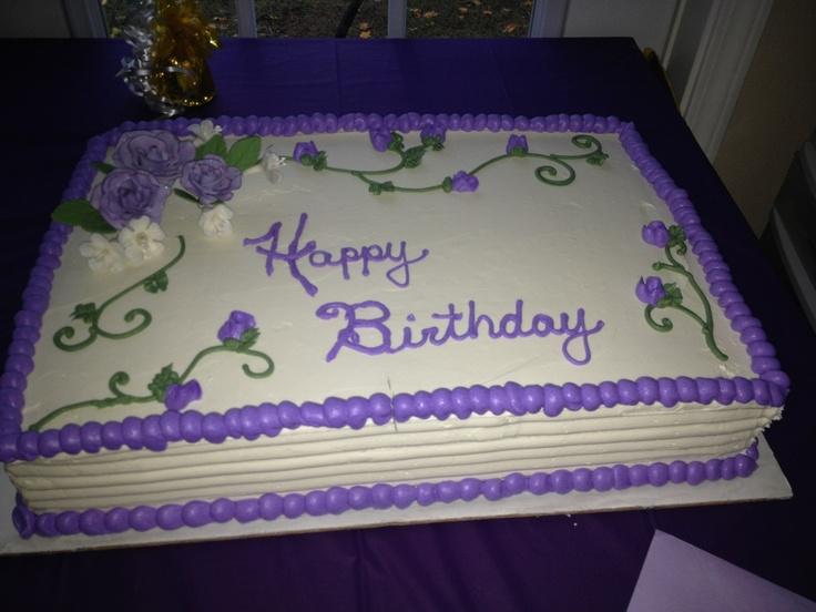 Purple And White Sheet Cake My Creations Pinterest