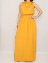 Long Bridesmaid Dress Party dress Evening Dress Mustard ...