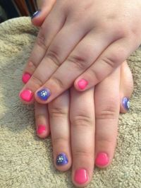 Little girl gel mani | Sara's nail designs | Pinterest ...