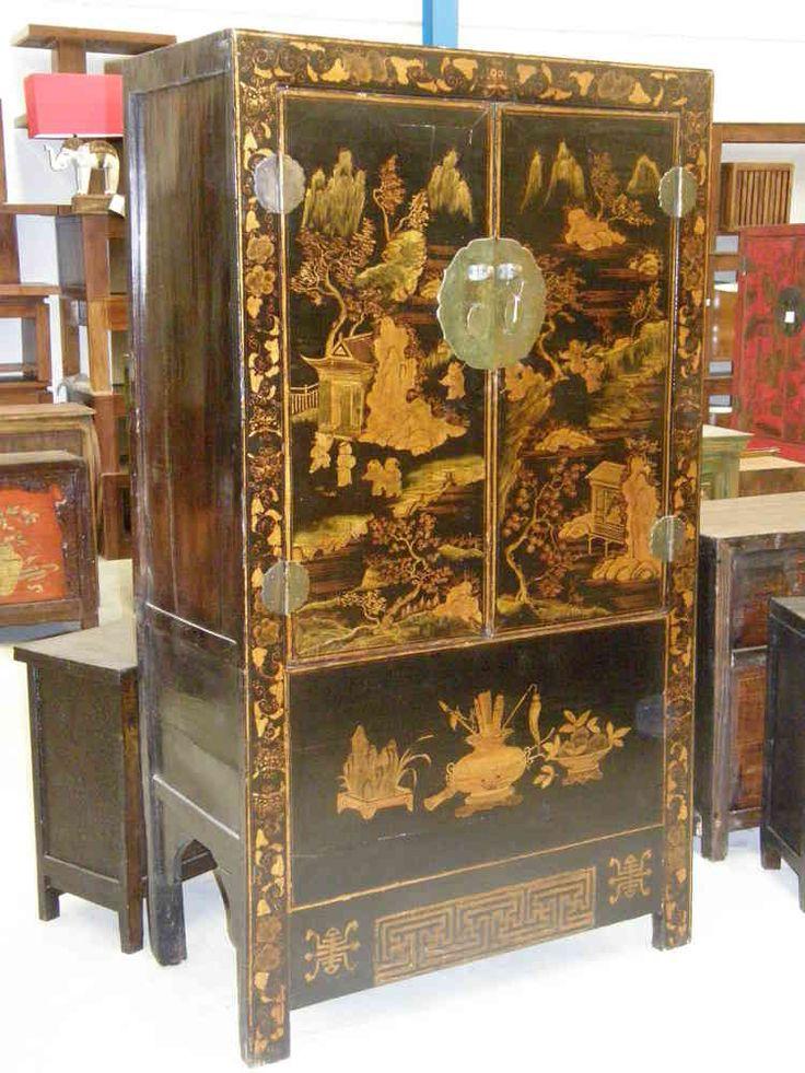 Armario boda chino negro  Muebles chinos  muebles