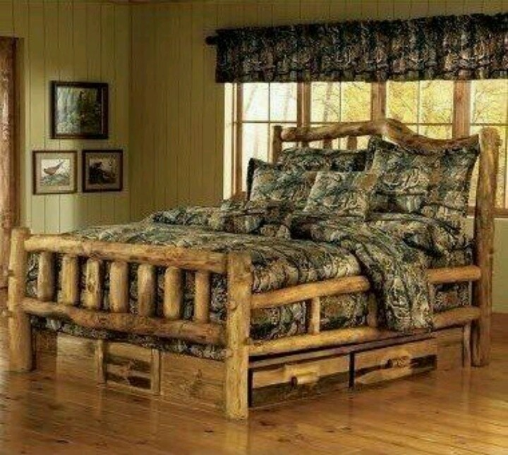 Mossy oak camouflage and wood bed  For the home  Pinterest  Wood beds Nice and Mossy oak