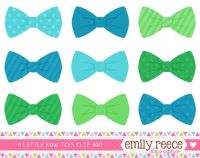 50% Off Sale - Boy Bow Ties Blue Green Stripes Polka Dots ...