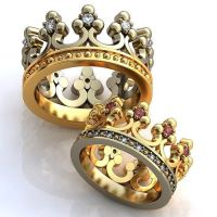 Crown Engagement Rings, Wedding Rings, Promise Rings his ...