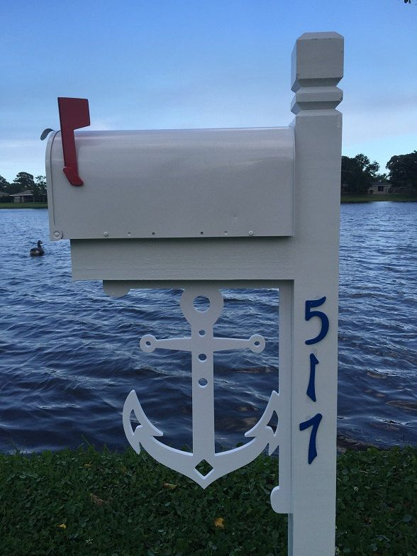 LARGE Decorative Anchor Bracket for Mailbox Porch Entry Coastal Beach Lake Home by