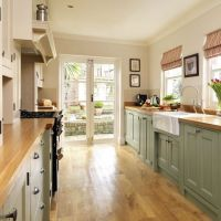 Galley kitchen with French doors | House N Home Inside ...