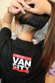 undercut hairstyle women emo