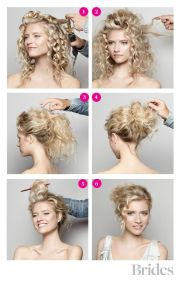 diy hairstyle messy curly bun