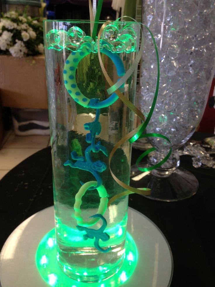 Centerpiece Cylinder Cylinder Vase Baby Shower