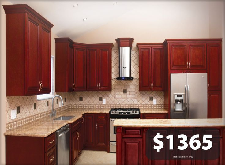 Details About All Solid Wood KITCHEN CABINETS Cherryville
