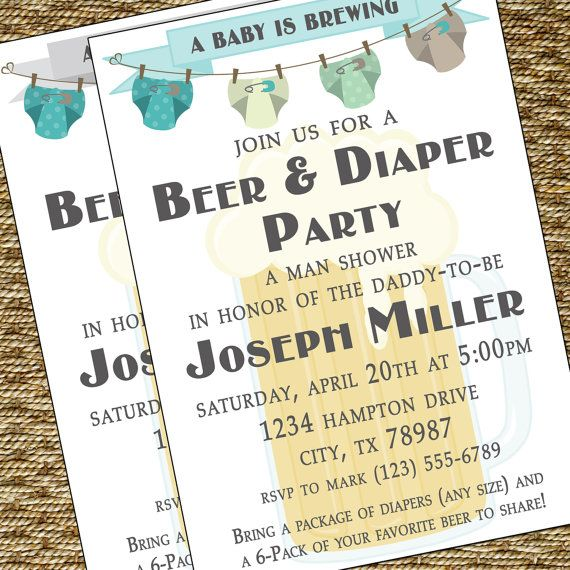 baby shower for men – my hubs would have loved something like this!