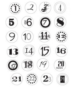 Printable numbers, Advent and Numbers on Pinterest