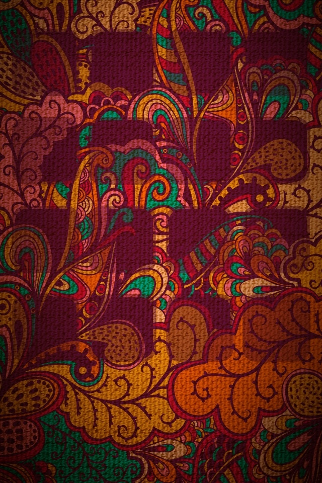 American Hippie Psychedelic Art Design Pattern Wallpaper