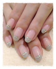 neutral french nail design