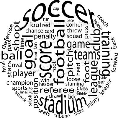 Wall Quote Wall Quote Soccer Ball Words--this would make a