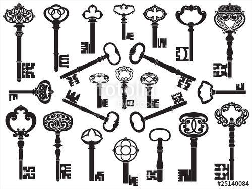 17 Best ideas about Antique Key Tattoos on Pinterest