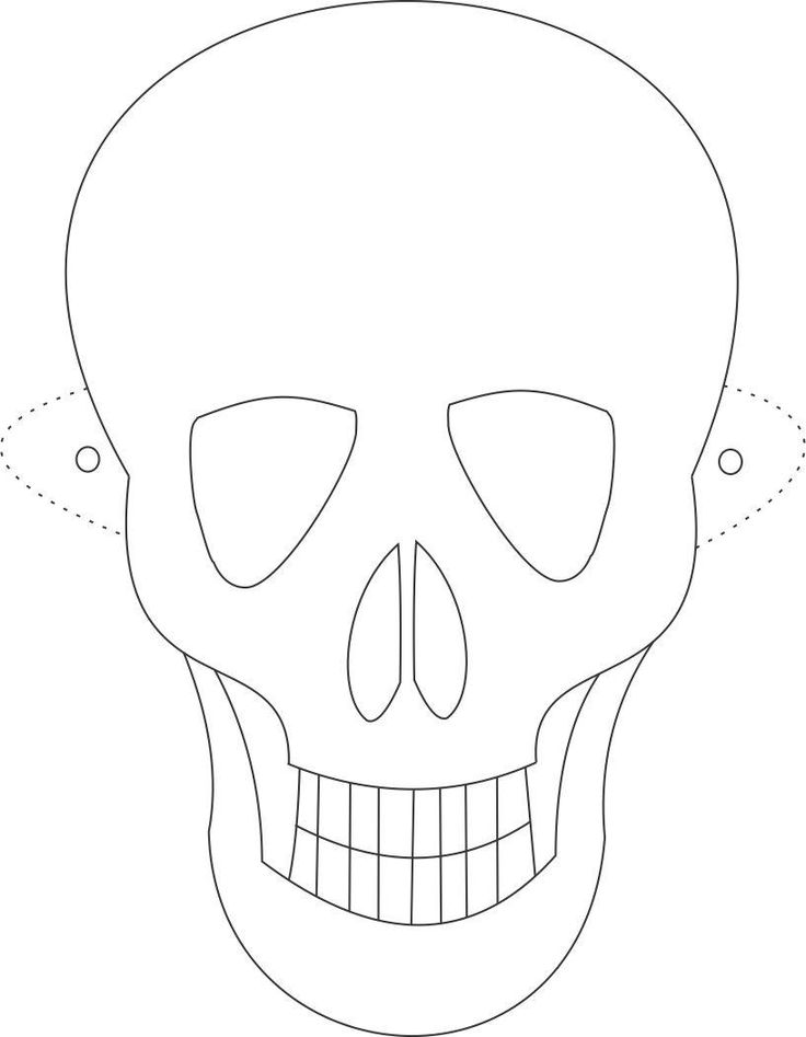 skull mask coloring pages, printable skull mask coloring