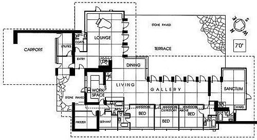 Griggs Residence Tacoma, Washington. Frank Lloyd Wright