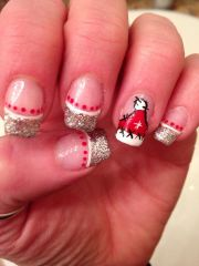 merry christmas nail art gel