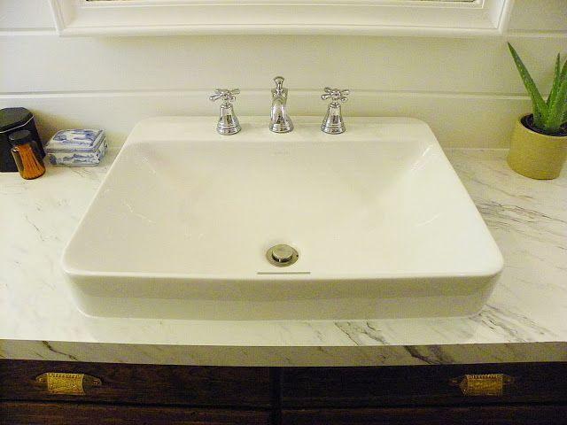 love this sink  Kohler K266080 Vox Rectangle Vessel