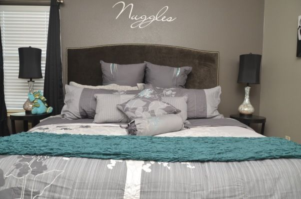 17 Best images about Grey and turquoise bedroom on