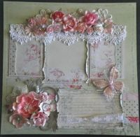 shabby chic scrapbooking layouts