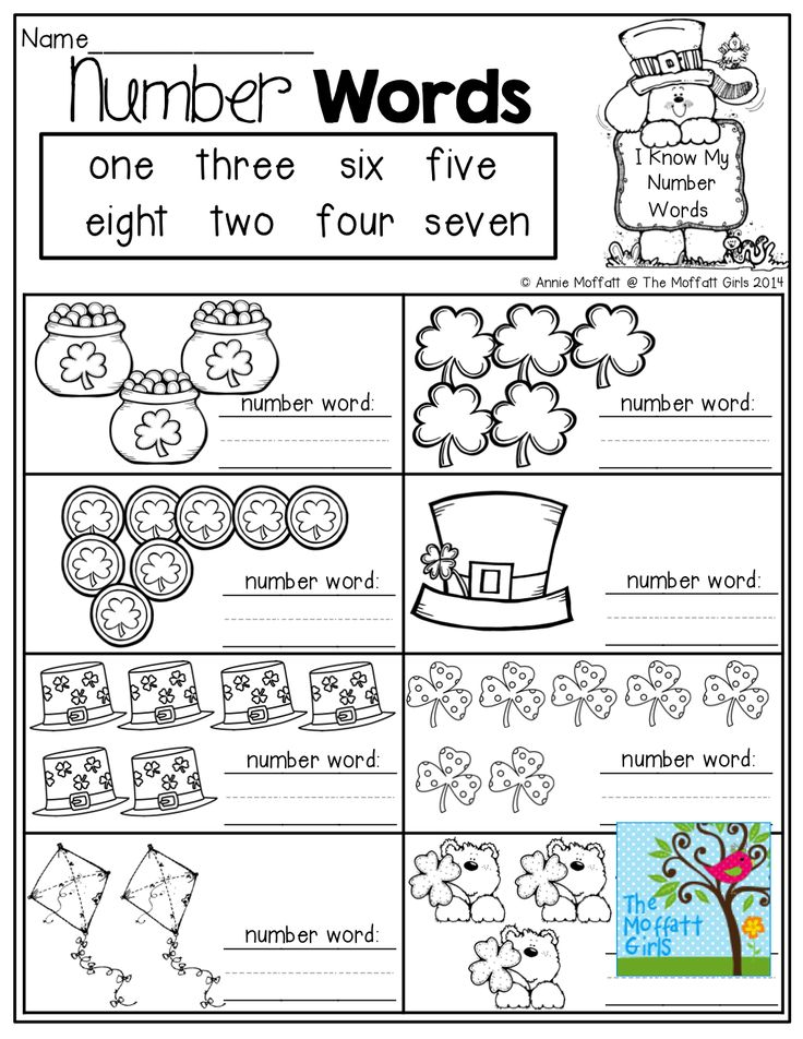 23 best images about Number words on Pinterest