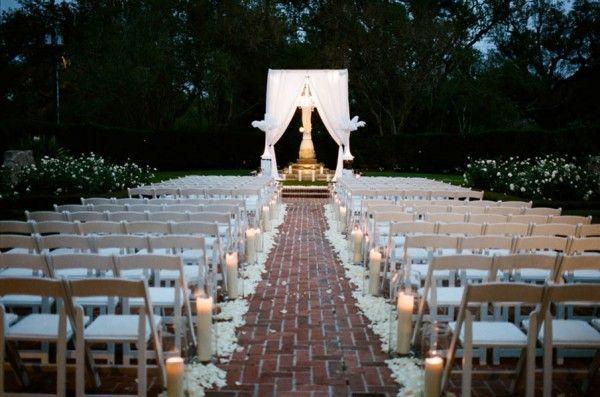outdoor weddings  Evening wedding at City Park Botanical Gardens of New Orleans  wedding