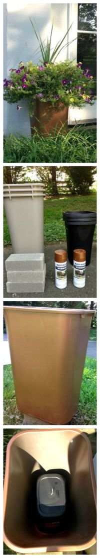 DIY Large Outdoor Planters For Cheap ~ Create large